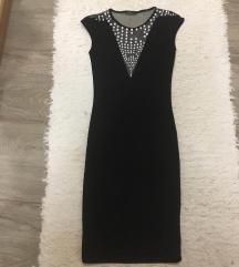 Kis fekete strasszos alkalmi ruha