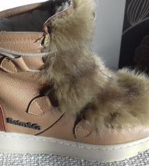 Retro szőrös cipő