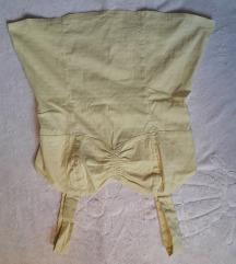 sárga, ujjatlan póló