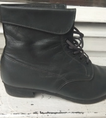 Szürke fűzős bőr női cipő 37,5-38