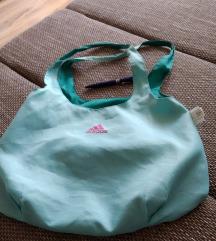 Adidas zöld/kék kifordítható táska