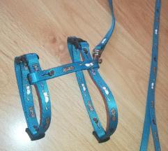Trixie kék cicamintás hám Új