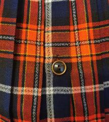 Skótkockás vintage szoknya