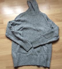 H&M oversized gyapjúkeverék pulóver Xs-M