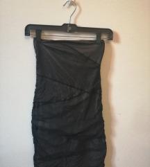 Fekete pántnélküli ruha (S)