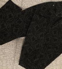 Új fekete skinny barokk nadrág S