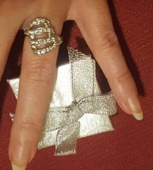 Új fehérarany gyűrű, kis méret gyönyörű!!