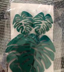 Leveles zöld fülbevaló