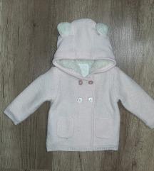 74-es kislány szőrmés belsejű kardigán/kabátka