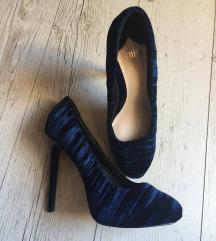 Faith sötétkék bársony cipő