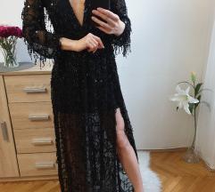 Fekete flitteres alkalmi ruha