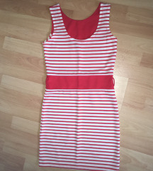 Piros-fehér nyári ruha S-es