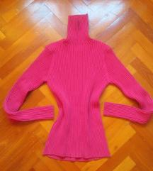Bordázott kötött garbós pulcsi S