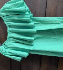 H.R.V.T. Zöld vállra húzható ruha