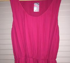 Pink plisszírozott ruha