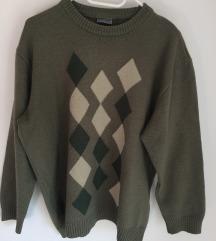 Kárómintás pulóver