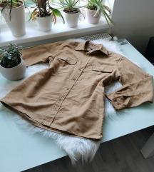 Hasított bőr hatású oversized ing / ingruha S/M/L