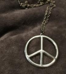 Béke jeles nyaklánc (peace)