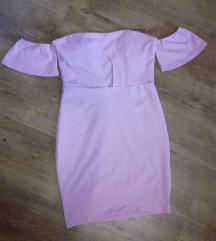 Rózsaszín off shoulder ruha