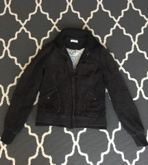 Orsay fekete kord kabát (M)