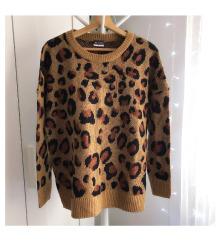 Leopárd pulóver L
