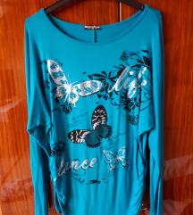 Pillangós türkiz felső kínai L/XL