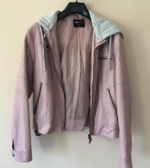 New yorker rózsaszín bőrkabát