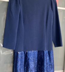 Matilde Cano designer alkalmi kék ruha 38/40💗