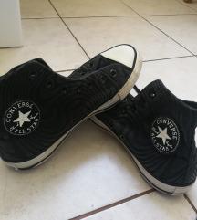 Fekete mintás hosszú szárú tornacipő