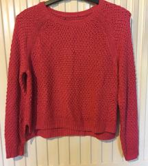 Pink kötött pulóver