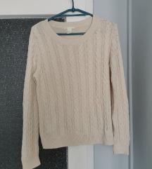 Krémszínű kötött pulcsi