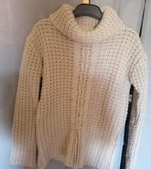 bézs kötött garbó pulóver
