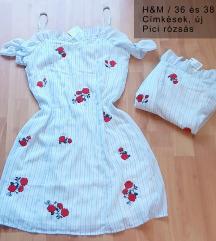 CÍMKÉS H&M Gyönyörű ruha (36 és 38)