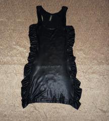 Új! - Bőrhatású selyem sztreccs ruha - 40/42/44