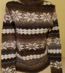 Barna téli garbó/ pulóver
