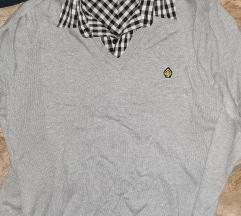 S-es szürke férfi pulóver