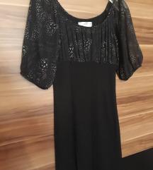 LEÁRAZVA! Fekete mintás alkalmi ruha