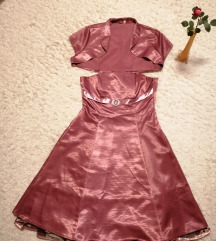 Gyönyörű rózsaszín alkalmi ruha + boleró
