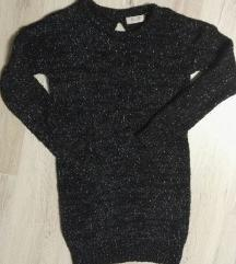 Fekete színes fényes szálas pulcsi
