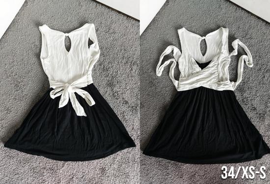 Sztreccs tunika-ruha, derékkötős XS méret
