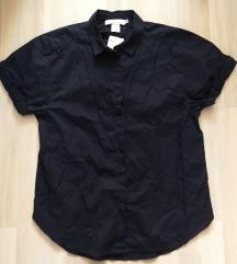 Új oversized H&M rövid ujjú sötétkék ing