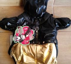Arany-fekete vadiúj S-es téli kutyaruha