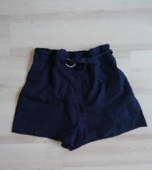 Zara kék paperbag rövidnadrág, sort M-es