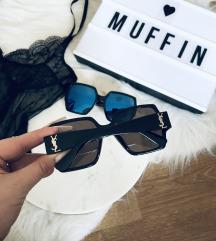 YSL logós kék tükörlencsés napszemüveg Új