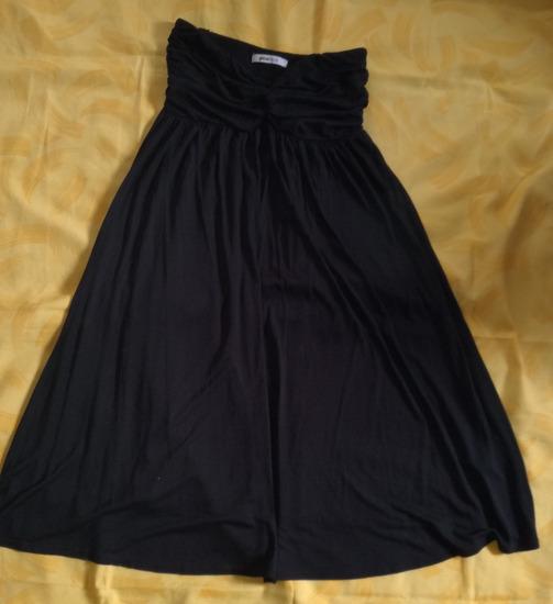 Fekete pántnélküli nyári ruha, strandruha