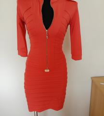 Olasz élénk piros nőcis ruha