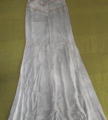 S - Indiai stílusú szürke ujjatlan hosszú ruha