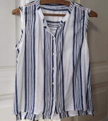 Kék-fehér csíkos nyári ing