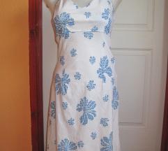 S-es fehér kék virágos nyári ruha
