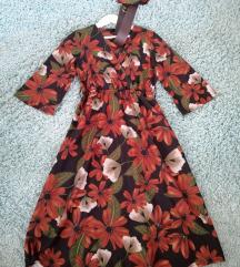 Új Virágos midi ruha